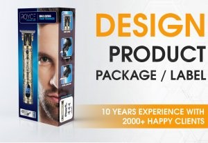 744I will create 3d product packaging and label design